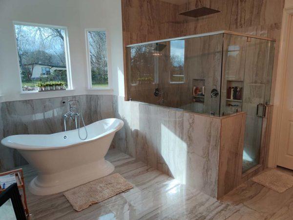 Shower glass surround